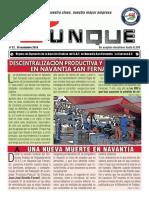 Revista Yunke no 27, 26 noviembre 2019.Órgano de Expresión de la Sección Sindical del S.A.T. en Navantia San Fernando. La Carraca-S.F