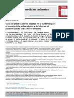 Guías sedoanalgesia y delirium en el crítico, 2019, Revista Medicina Intensiva