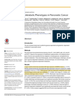 2015. China. Metabolic Phenotypes in Pancreatic Cancer