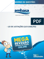 Adm Pub - Lei 8666 - Questoes IFBC