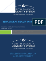 BEHAVIORAL HEALTH IN HIGHER ED