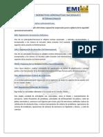 Entidades y Normativas Aeronauticas Nacionales e Internacionales