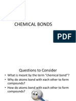 Chemical Bonds Lecture