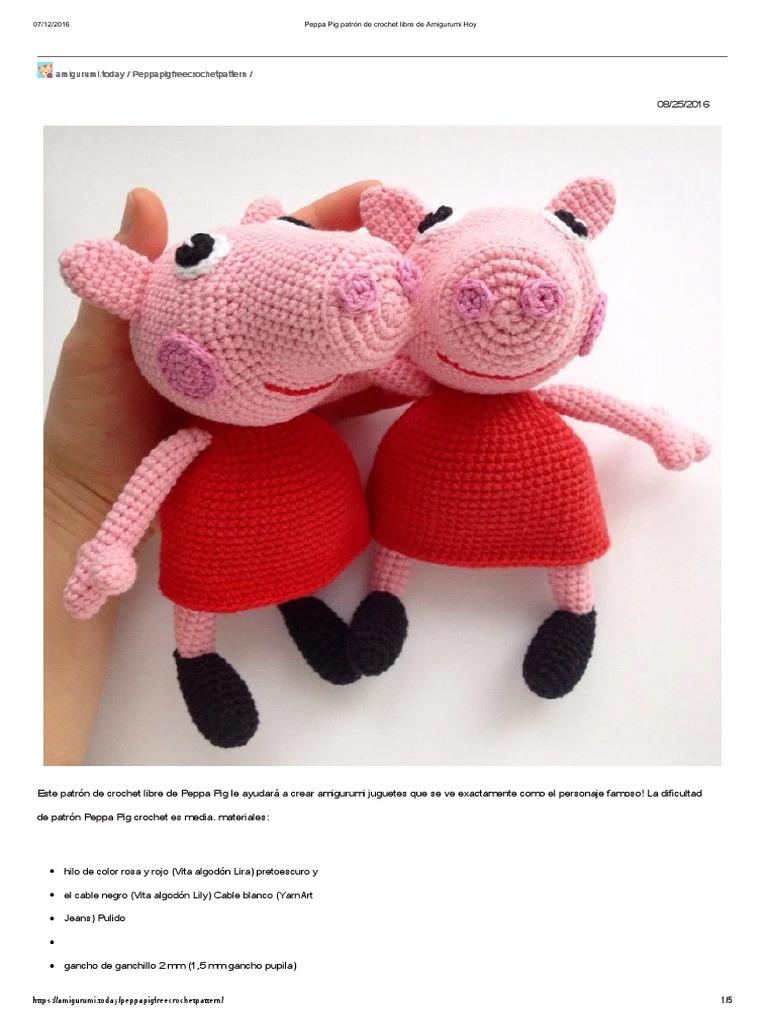 PEPPA PIG   Patrones amigurumi, Muñecos de ganchillo   1024x768