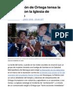 La represión de Ortega tensa la relación con la Iglesia de Nicaragua | Internaci
