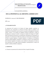 Sem Lingüística Histórica - Programa 2019