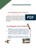 La Pedagogia Como Ciencia de La Educación