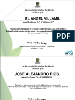 Certificados Procesos de Formacion 2019
