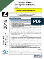 Prova - Assistente Administrativo - Tipo 2