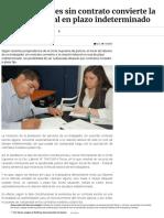 Inicio de Labores Sin Contrato Convierte La Relación Laboral en Plazo Indeterminado _ La Ley - El Ángulo Legal de La Noticia