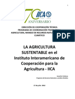 La Agricultura Sustentable en El IICA_2012