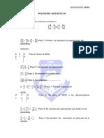 polinomios aritmeticos con fracciones - perimetro de la circunferencia y Area de Circulo