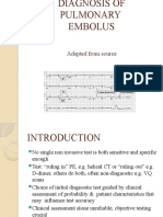 Diagnosis of Pulmonary Embolus Edited