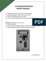 Cara Mengoperasikan Frezer Jenazah