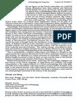 Anthropology & Humanism Volume 27 Issue 1 2002 [Doi 10.1525%2Fanhu.2002.27.1.114] Andrew Lattas -- Identity and Being