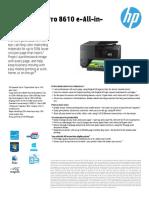 HP OfficeJet Pro 8600 Datasheet