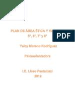 Plan de Área Ética y Valores 5,6,7