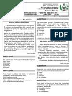 Avaliação Bimestral de Ciencias - 4º Ano - Amélia - Dezembro 2019