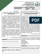Avaliação Bimestral de Educação Física - 4º Ano - Amélia - Dezembro 2019