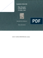 STRAUBE, Rudolfo • Due Sonate a Liuto Solo (Leipzig, 1746) (facsimile lute tablature)