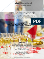 Swiss Darling Cocktail Invite Template