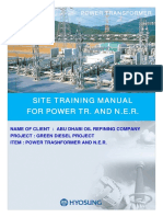 Site Training Manual for Power Transformer