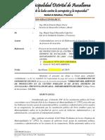 Informe N° 0401 2019 Conformidad de Expediente Tecnico PI MURO DE CONTENCION LA CANDELARIA