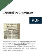 Deuterocanónicos - Wikipedia, La Enciclopedia Libre