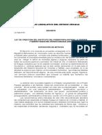 ley del instituto para la vivienda y habitat digno del estado aragua