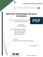 Protocolo Centro de Servicios Ti
