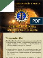 ACTIVIDADES MINERAS - examen.ppt