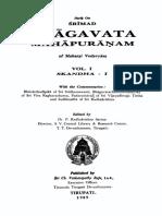 Srimad Bhagavata Mahapuranamu Prathama Skanda