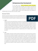 Factors Affecting Entrepreneurship Development
