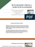 ANÁLISIS DE LA SITUACIÓN INTERNA Y EXTERNA DE LA EMPRESA.pptx