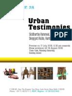 Urban Testimonies @ Latitude 28 Gallery