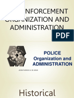 LEA 101 Law Enforcement Organization and Administration