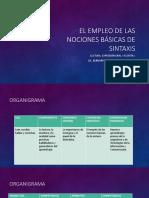EL EMPLEO DE LAS NOCIONES BÁSICAS DE SINTAXIS (1).pptx