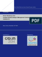 Poster Workshop of the Complex Systems Design & Management Conference CSD&M 2014
