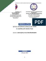 Rezoluție Scoala de Vara a Cadrelor Didactice 2019 Final
