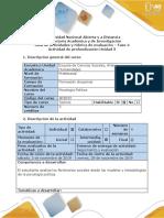 Guía de Actividades y Rúbrica de Evaluación Fase 4 - Actividad de Análisis y Reflexión.