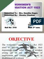 Workmen's Compensation Act 1923(Hr)