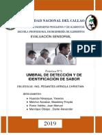 Umbral de detección de sacarosa