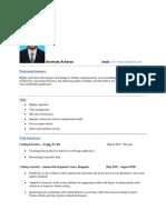 1 - Aravind Acharya - Catalog Executive - 5 Yrs 0 Month