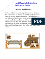 Packers and Movers in India Your Relocation Guide