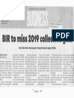 Philippine Daily Inquirer, Nov. 27, 2019, BIR to miss 2019 collection goal.pdf