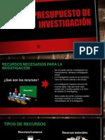 presupuesto de investigacion