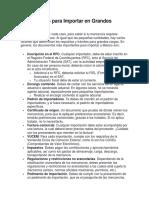 Documentos para Importar en Grandes Cantidades.docx