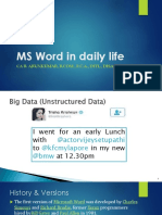 MS Word in Daily Life