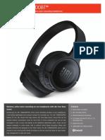 JBL Tune600BTNC Spec Sheet English