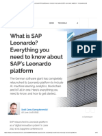 Everything You need to Know about SAP's Leonardo Platform